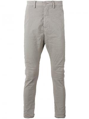 Классические брюки чинос Poème Bohémien. Цвет: серый