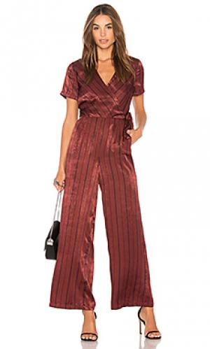 Пляжный костюм с широкими брюками J.O.A.. Цвет: красное вино