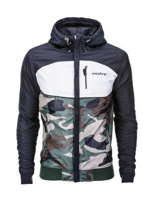 Куртки OMBRE. Цвет: черный, белый, зеленый