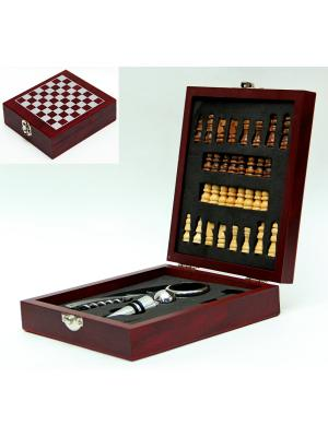 Набор подарочный в деревянной коробке Magic Home. Цвет: черный, белый, коричневый