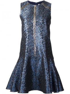 Платье с эффектом металлик Tanya Taylor. Цвет: синий
