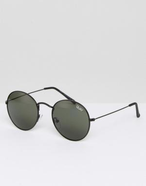 Quay Australia Черные круглые солнцезащитные очки Mod Star. Цвет: черный