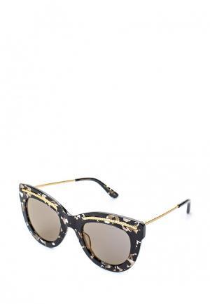 Очки солнцезащитные Bottega Veneta. Цвет: мультиколор