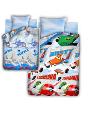 Комплект постельного белья Самолеты. Цвет: голубой, синий