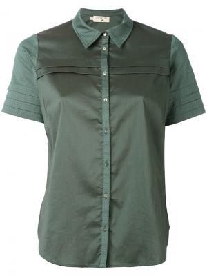 Рубашка с контрастной окантовкой Cotélac. Цвет: зелёный