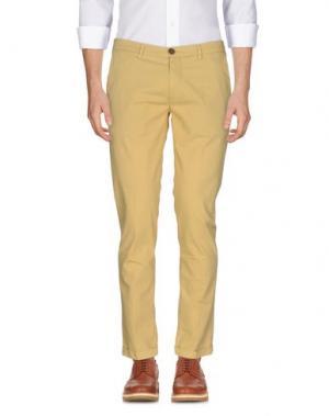Повседневные брюки YAN SIMMON. Цвет: светло-желтый