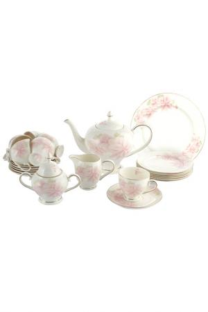 Чайный сервиз Розовые цветы EMERALD. Цвет: мультицвет