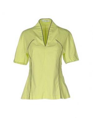 Блузка OBLIQUE CREATIONS. Цвет: кислотно-зеленый