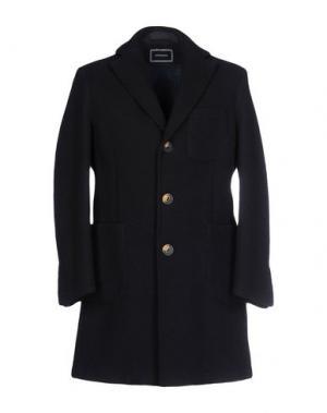Пальто QUINTESSENCE. Цвет: темно-синий