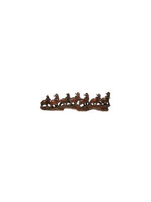 Статуэтка Семь Слонов Русские подарки. Цвет: коричневый, кремовый