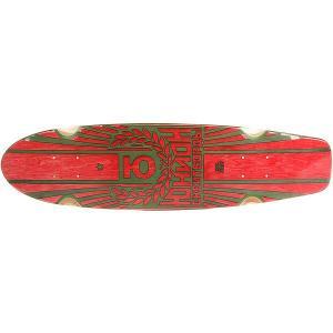 Дека для скейтборда лонгборда  Rose Red/Green 7.6 x 29.5 (75 см) Юнион. Цвет: красный,зеленый