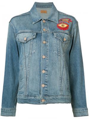 Джинсовая куртка с вышивкой Mother. Цвет: синий
