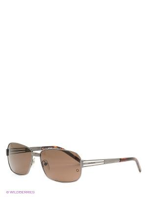Очки солнцезащитные Montblanc. Цвет: коричневый, серебристый