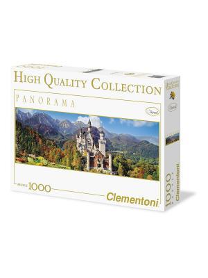 Clementoni. Бавария, Замок Нойшванштайн - Осень. Серия панорама, пазл 1000 элементов. Clementoni. Цвет: белый, синий, желтый