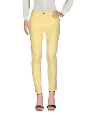 Повседневные брюки ROBERTA BIAGI. Цвет: желтый