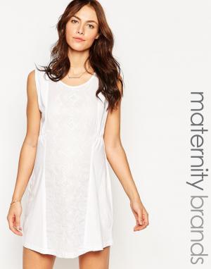 Ripe Платье-туника для беременных Maternity Sorrento. Цвет: розовый