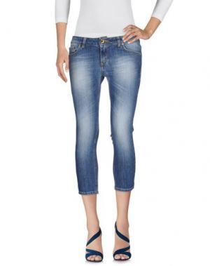 Джинсовые брюки-капри ENTRE AMIS. Цвет: синий