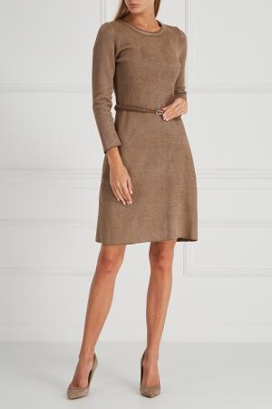 Платье с поясом Maison Ullens. Цвет: бежевый