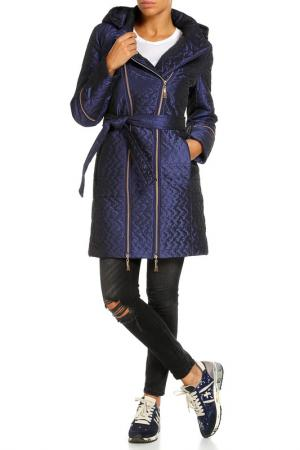 Пальто Klaris. Цвет: синий