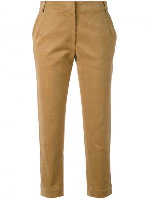 Cropped corduroy trousers Peter Jensen. Цвет: коричневый