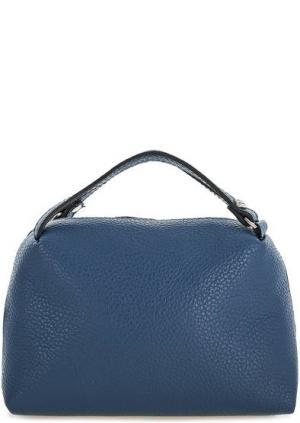 Синяя маленькая сумка из натуральной кожи Gianni Chiarini. Цвет: синий