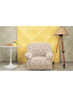 Еврочехол Виста Антея на кресло. Цвет: бежевый