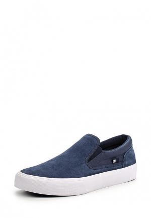 Слипоны DC Shoes. Цвет: синий