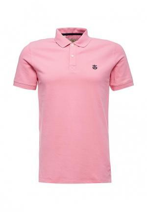 Поло Selected Homme. Цвет: розовый