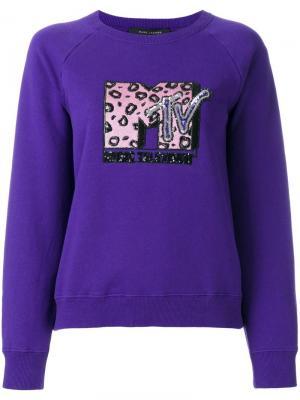 Толстовка MTV x Marc Jacobs. Цвет: розовый и фиолетовый