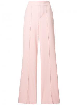 Расклешенные брюки с завышенной талией Alice+Olivia. Цвет: розовый и фиолетовый