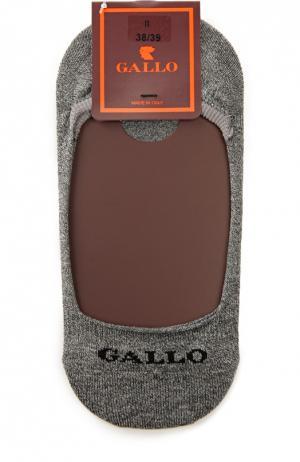 Хлопковые носки-подследники Gallo. Цвет: серый