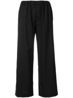 Укороченные широкие брюки Aspesi. Цвет: чёрный