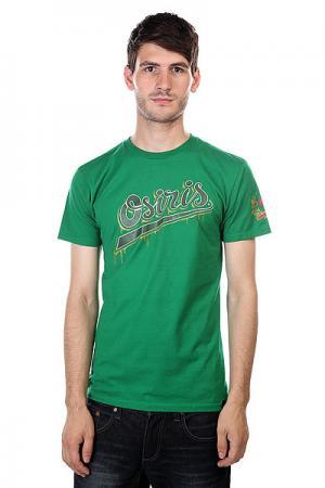 Футболка  Tee Prague Green Osiris. Цвет: зеленый