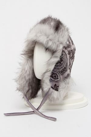 Шапка-ушанка ROMAX. Цвет: мех серый