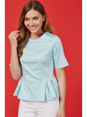 Блузка для кормящих мам MilkyMama. Цвет: голубой