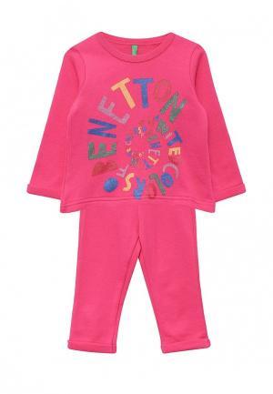 Костюм спортивный United Colors of Benetton. Цвет: розовый