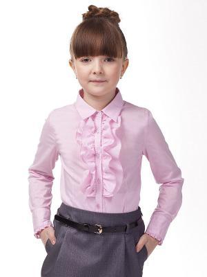 Блузка VILATTE. Цвет: розовый