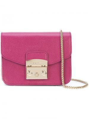 Сумка на цепочке Furla. Цвет: розовый и фиолетовый