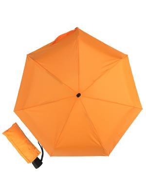 Зонт складной Eclair Orange Guy De Jean. Цвет: оранжевый
