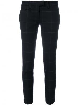 Укороченные брюки в клетку Dondup. Цвет: чёрный