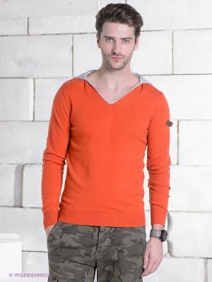 Джемпер RETIEF. Цвет: оранжевый, серый меланж