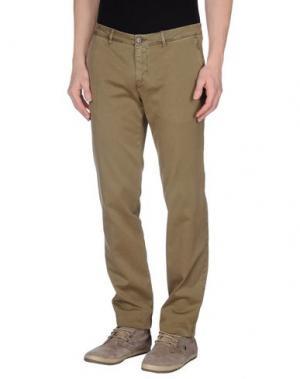 Повседневные брюки CELLAR DOOR. Цвет: зеленый-милитари