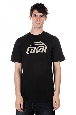 Футболка  Logo Black Lakai. Цвет: черный