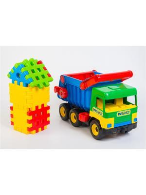 Middle truck машинка ТИГРЕС. Цвет: желтый, синий, зеленый, красный