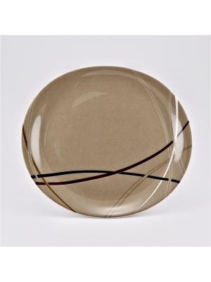 Набор 6 тарелок подстановочных 27см Мокко Royal Porcelain. Цвет: молочный