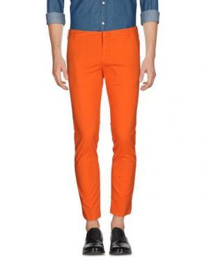 Повседневные брюки ENTRE AMIS. Цвет: оранжевый