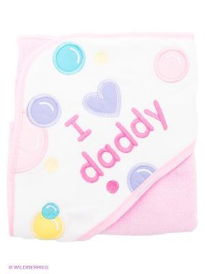 Махровая пеленка с капюшоном Luvable Friends. Цвет: розовый, сиреневый