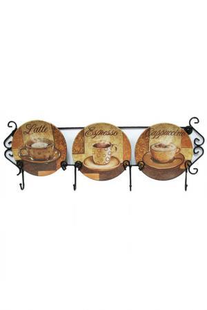 Тарелка настенная 3 предмета ELAN GALLERY. Цвет: мульти