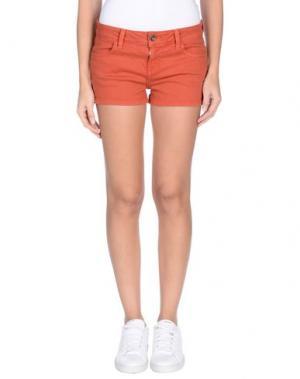 Джинсовые шорты VANS. Цвет: ржаво-коричневый