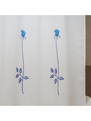 Шторка для ванной Rosas C. Blue ARTI DECO. Цвет: белый